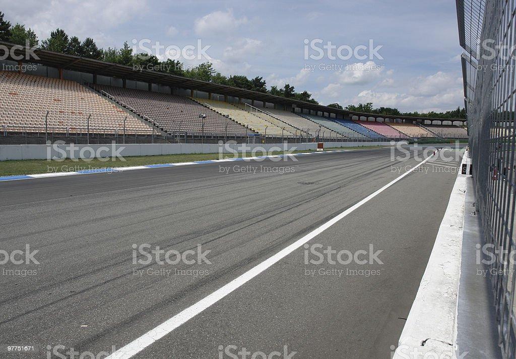 opposite pit lane in Hockenheim stock photo