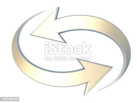 istock opposite yellow curved arrows 450188455