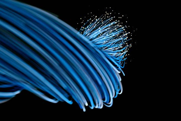 Optic fiber stock photo
