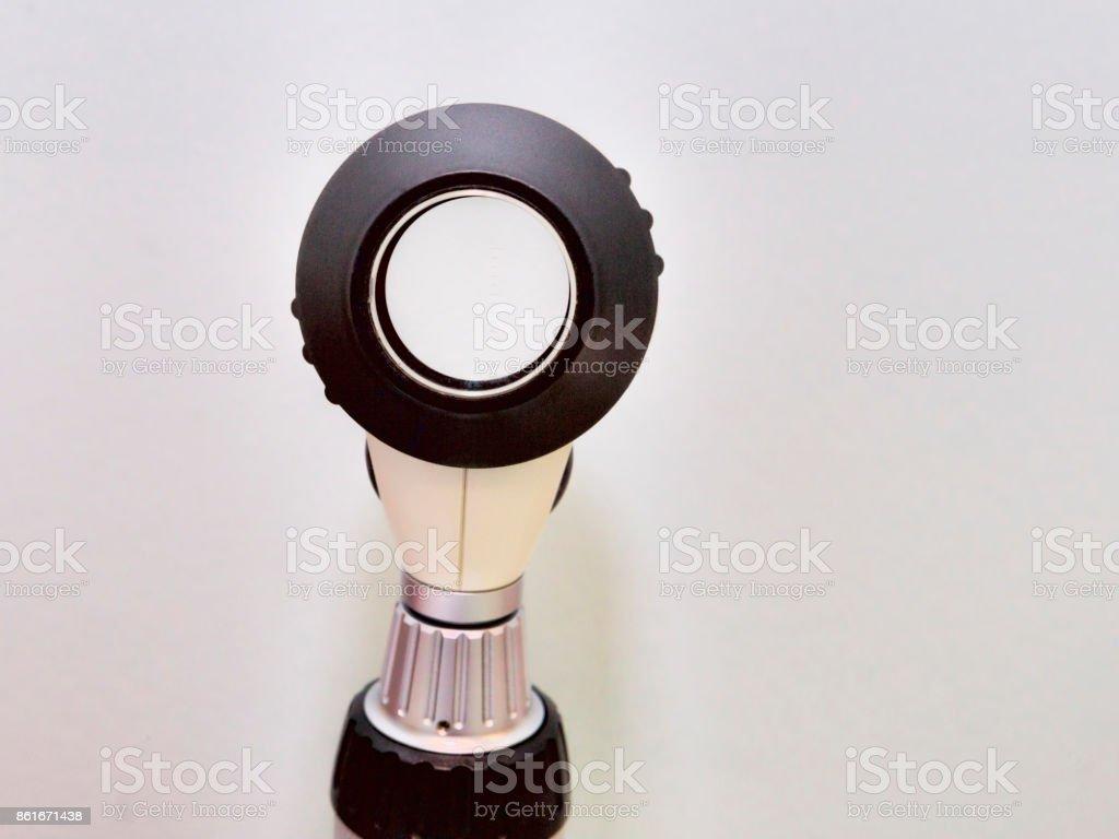 Optical dermatoscope - Selective focus stock photo