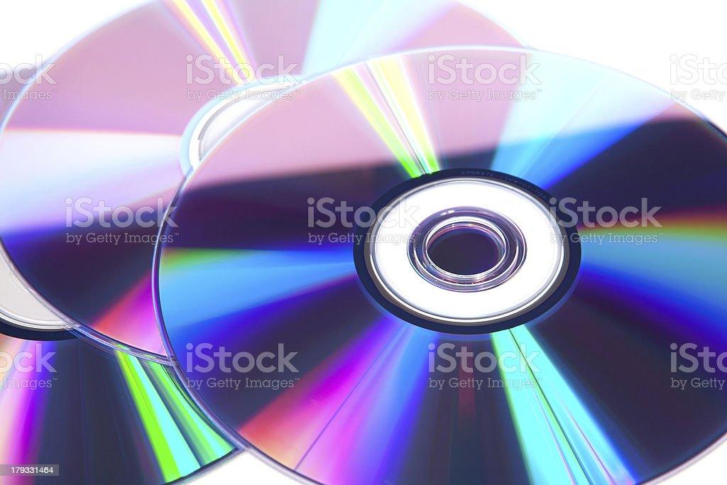 Optical discs stock photo