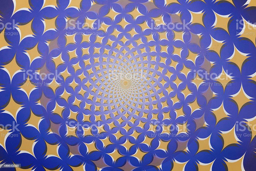 optical effect: spin rhombus stock photo