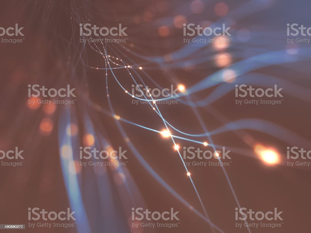 Optical Fiber Abstract stock photo