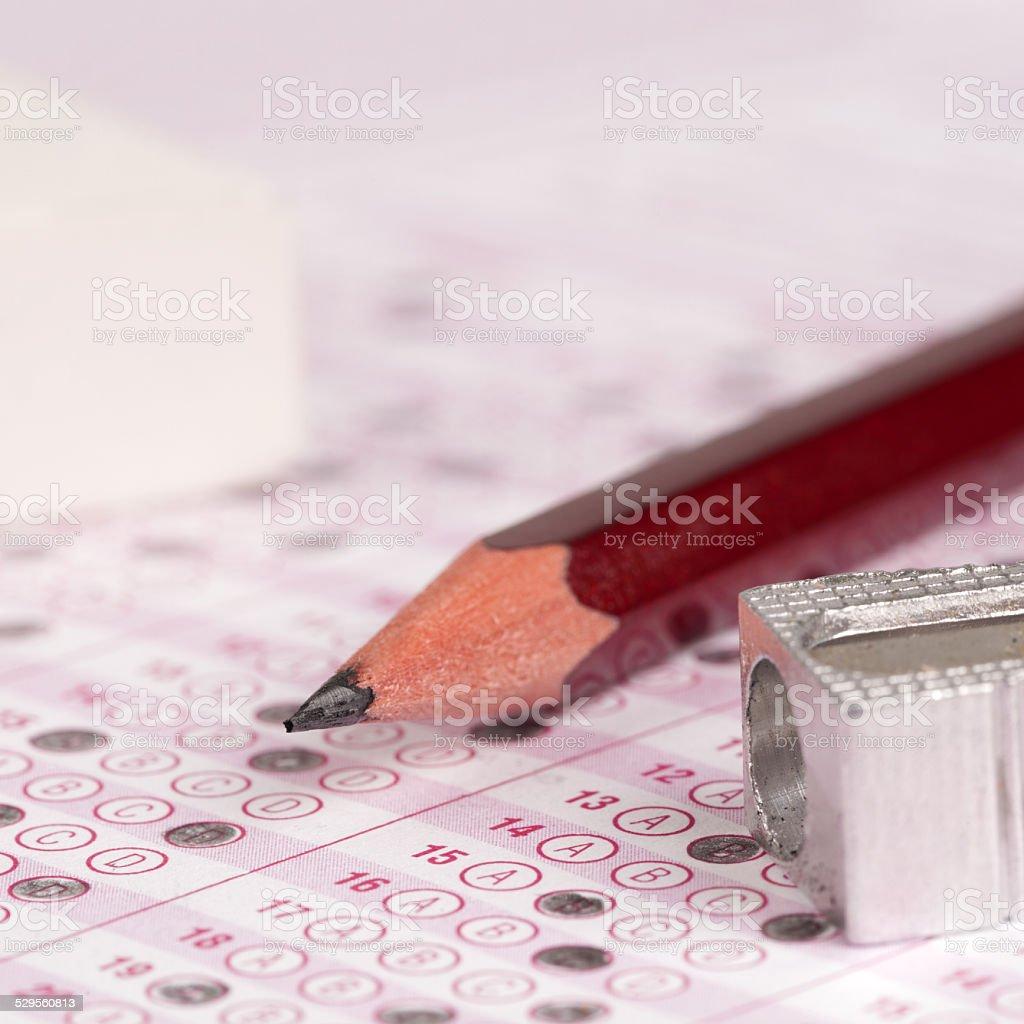 optical form of an examination stock photo