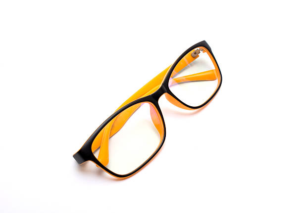 optical glasses stock photo
