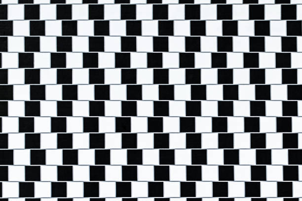 optical illusion lines - illusion stock photos and pictures