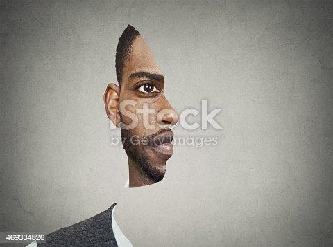 istock Optical illusion portrait of a man 469334826