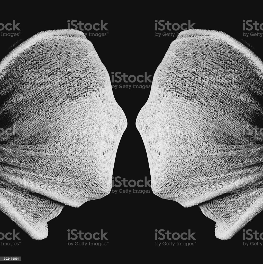 optical Illusion - Two Faces or a Chalice stock photo