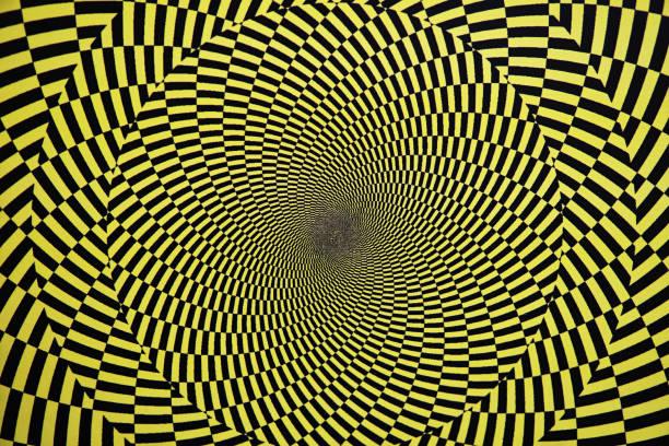 Ilusión óptica con círculos - foto de stock