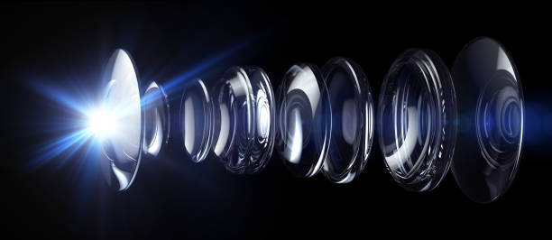 Optical Lens System stock photo