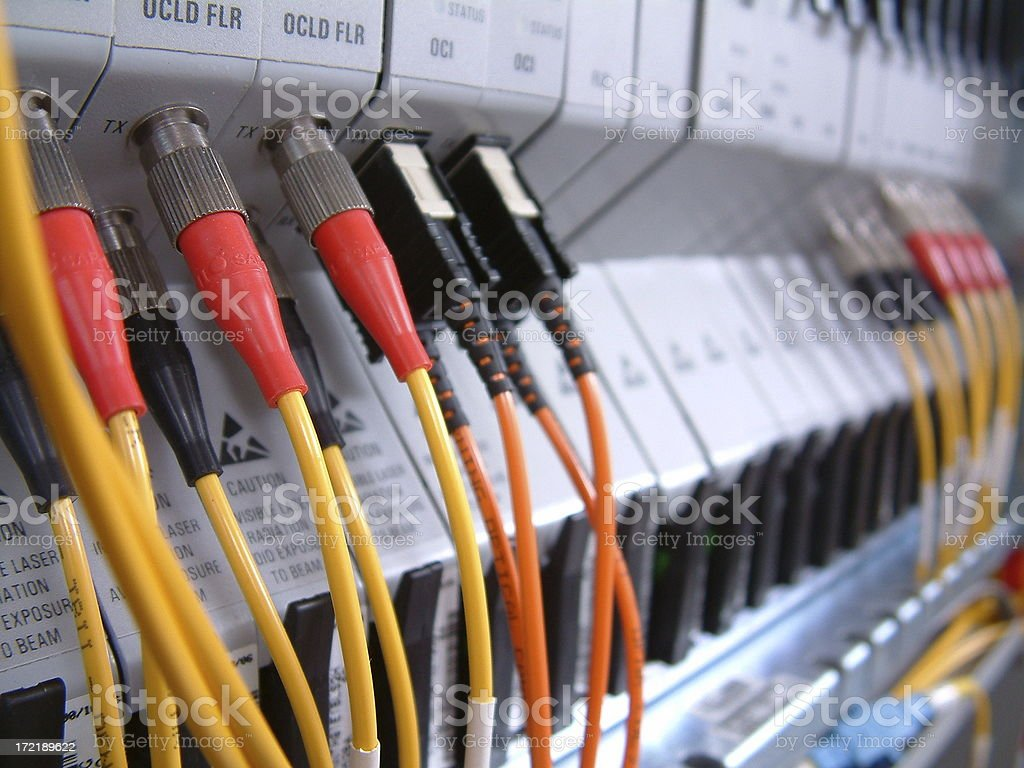 Optical Networking Cables royalty-free stock photo