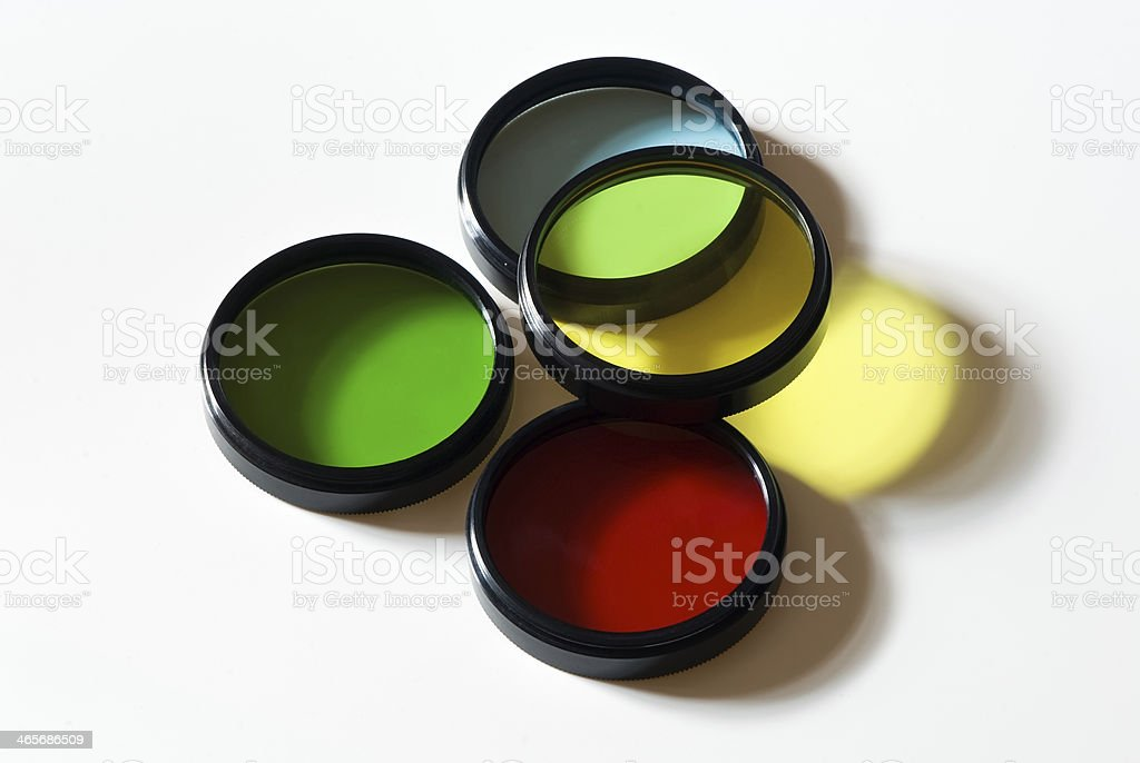 Optical photographic color filters stock photo