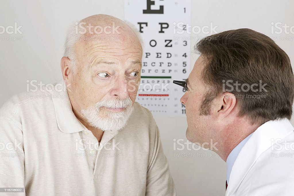 Optical Series - Eye Exam royalty-free stock photo
