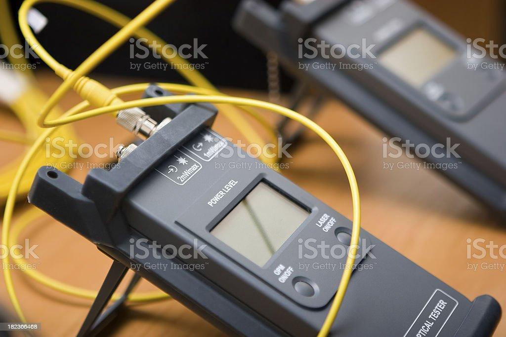 Optical tester stock photo