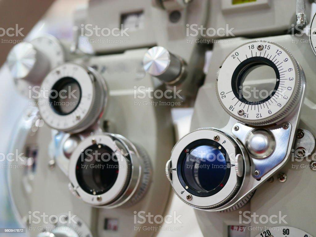Optician diopter stock photo