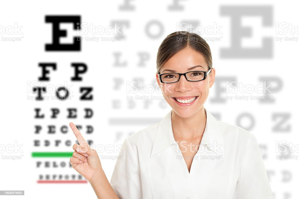 Optician / Optometrist royalty-free stock photo