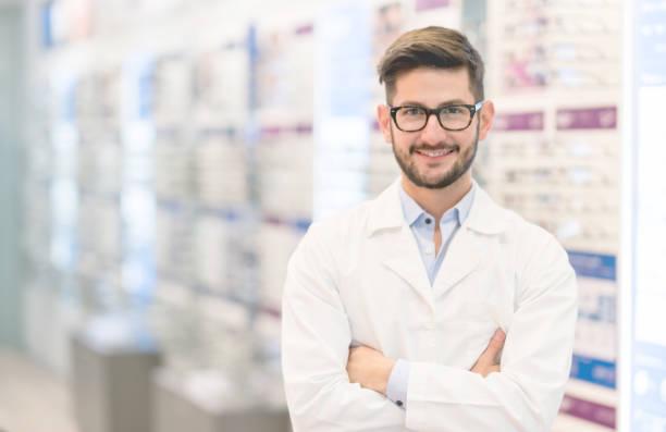 Optiker Brille im optischen shop – Foto