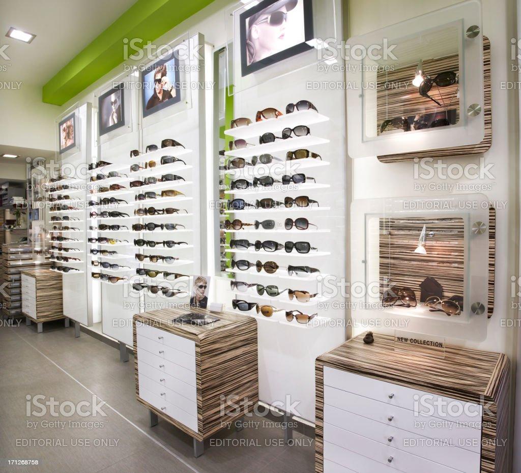 """Optiker s shop"""" Lizenzfreies stock-foto"""