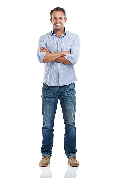 Optimistic about life Full length portrait of a handsome man standing with his arms folded against a white backgroundhttp://195.154.178.81/DATA/istock_collage/a3/shoots/785221.jpg arms crossed stock pictures, royalty-free photos & images