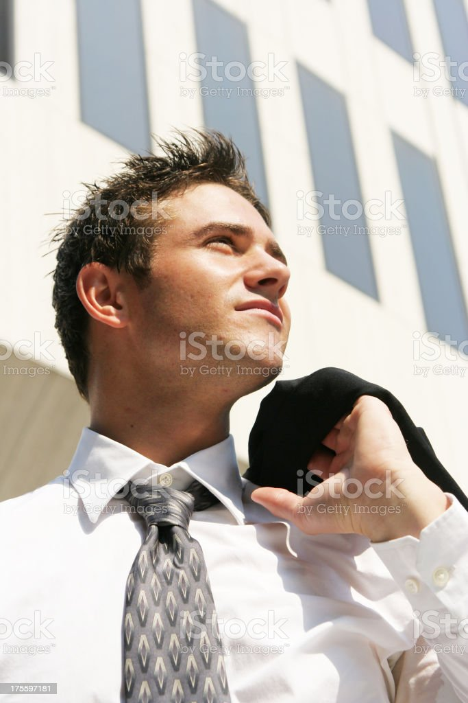 Optimistic businessman royalty-free stock photo