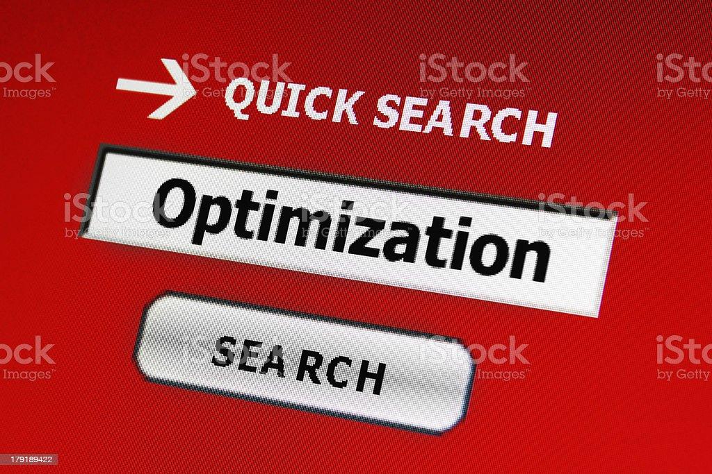 Optimization royalty-free stock photo