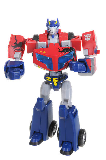 optimus prime figurine - transformers stock photos and pictures