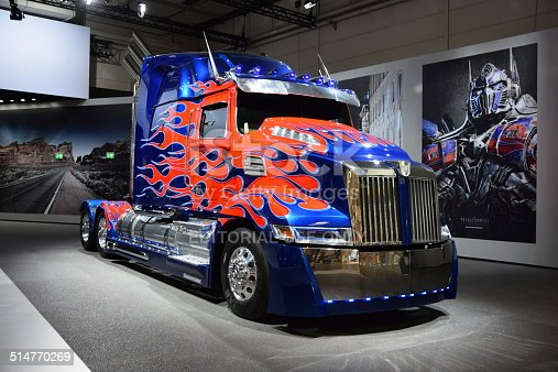 Optimus Prime Western Star Truck Transformers Stock Photo