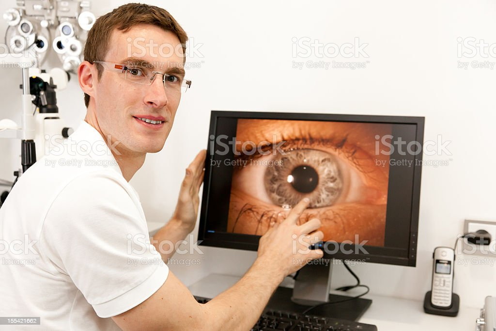optometrist at work royalty-free stock photo