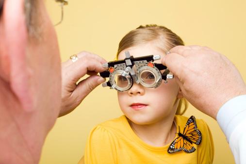 Optometrist Eye Exam Trial Frames Stock Photo - Download Image Now