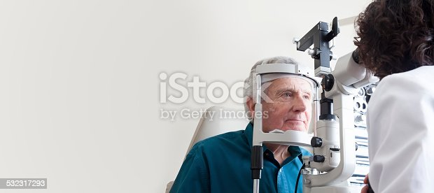 istock Optometrist with patient 532317293
