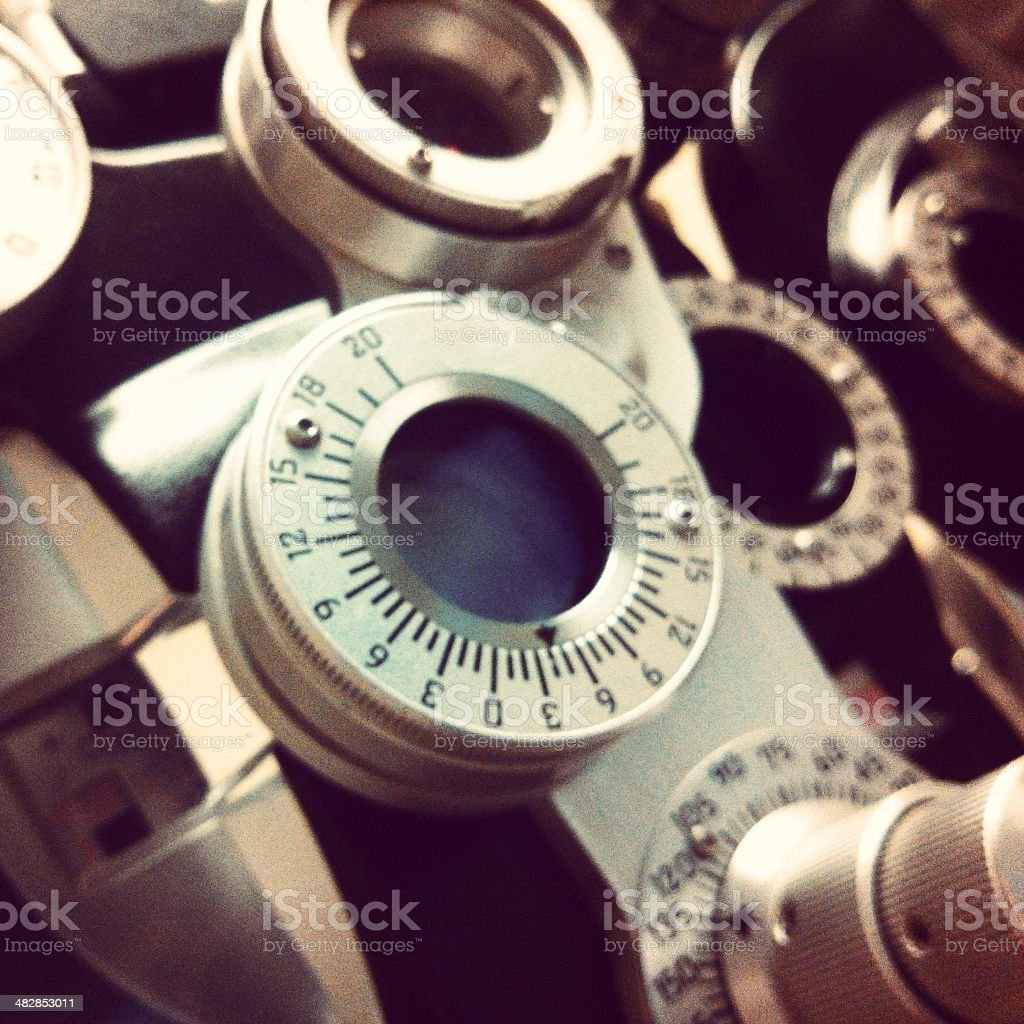 Optometry Lens to Test Vision stock photo