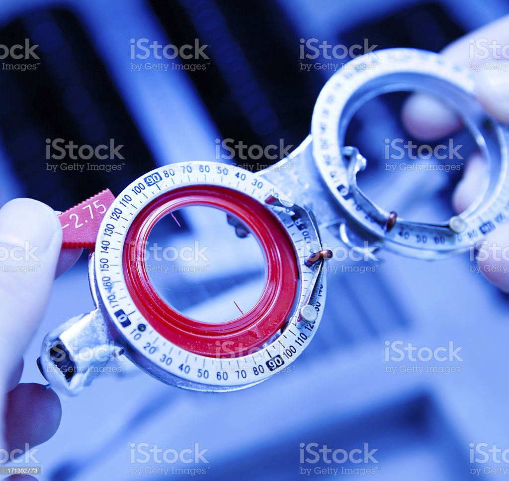 Optometry royalty-free stock photo