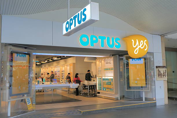 Optus Australia stock photo