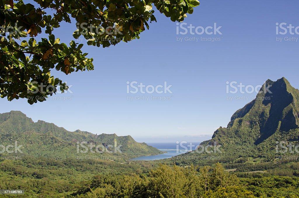 Opunohu Bay Scenic View ... Moorea royalty-free stock photo