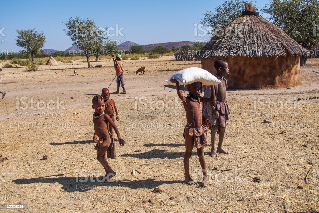 Himba Family Stock Photo - Download Image Now - iStock