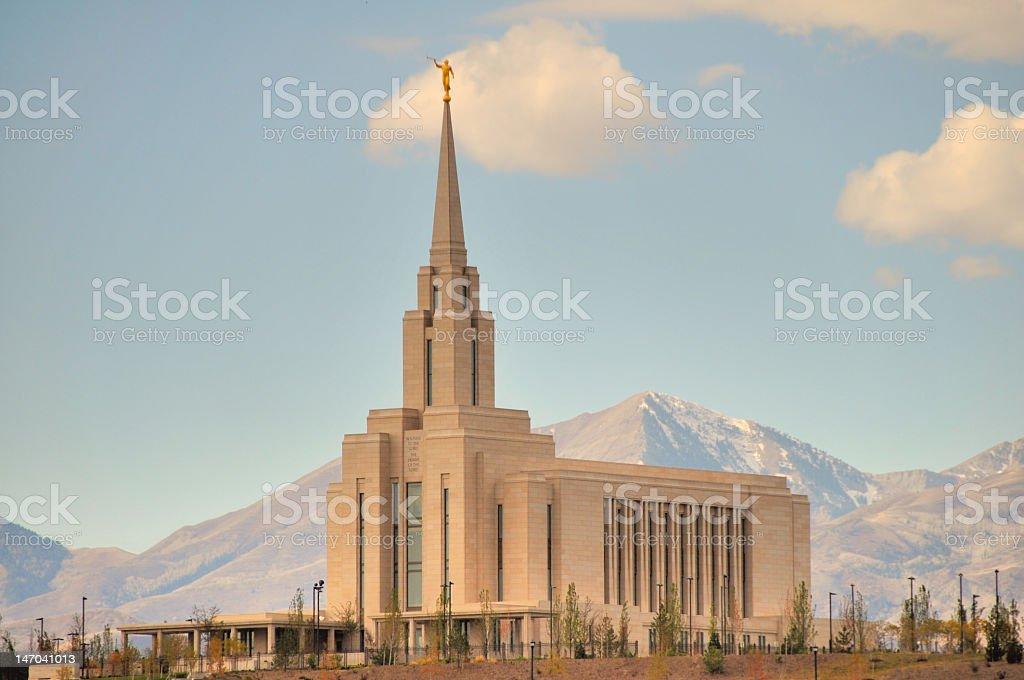 Oquirrh Mountain Utah Temple stock photo