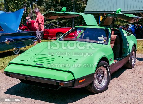 Moncton, New Brunswick, Canada - July 12, 2014:  1974 or 1975 Bricklin SV-1 at 2014 Atlantic  Nationals Automotive Extravaganza in Centennial Park.