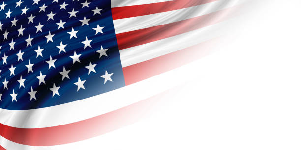 USA oder Amerika-Flag-Hintergrund mit Kopierraum – Foto