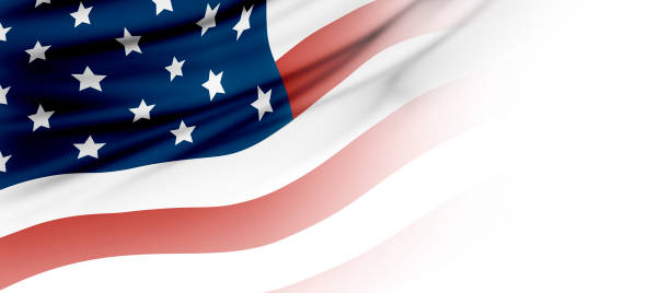 usa or american flag background with copy space - banner web foto e immagini stock