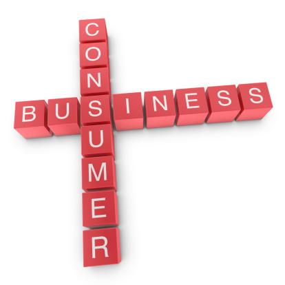 Business to consumer (B2C) concept http://en.wikipedia.org/wiki/Business-to-consumer ;