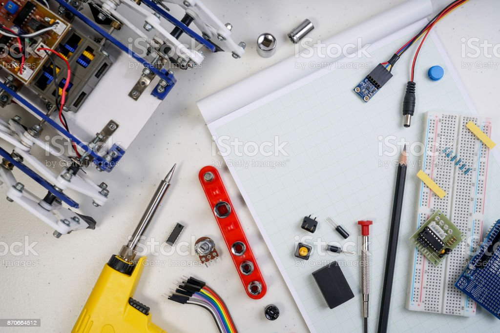 Stem Or Diy Electronic Kit Line Tracking Walking Robot Competition Ideas Stock Photo Download Image Now Istock