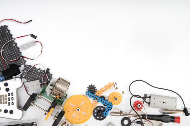 TALLO o ciencia DIY Kit establece fondo blanco. - foto de stock