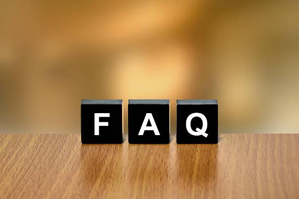 Häufig gestellte Fragen (FAQ) oder Häufig gestellte Fragen zu schwarz Block – Foto