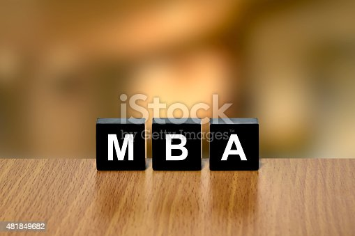istock MBA or Master of Business Administration on black block 481849682