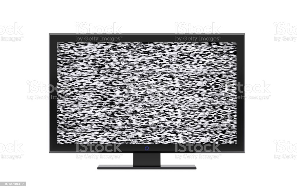 TV or monitor on a white background - 3d illustration - rendering stock photo