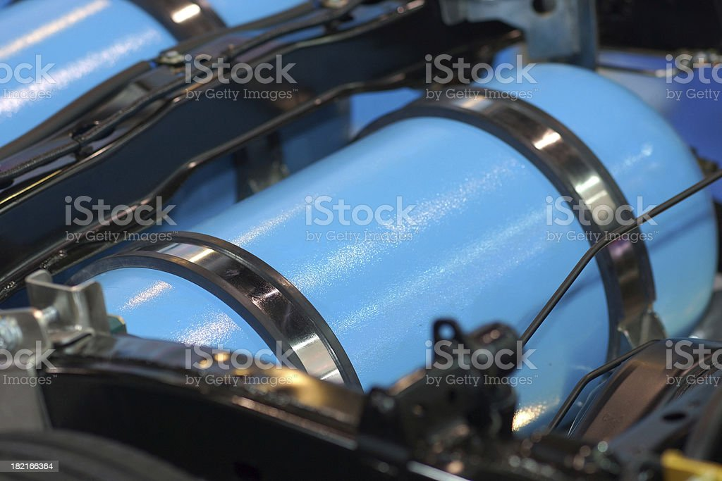 CNG or NGV Gas Tank in Car stock photo