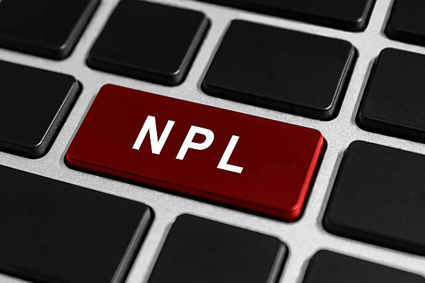 NPL or Nonperforming Loan button on keyboard stock photo