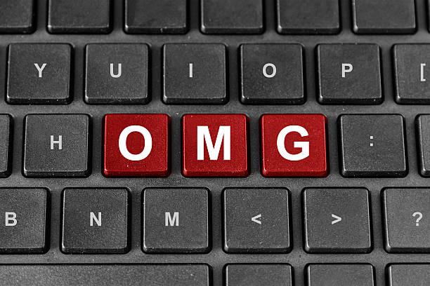 OMG oder Oh mein Gott Wort auf der Tastatur – Foto