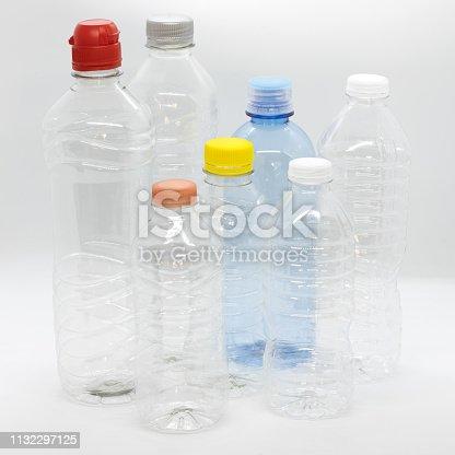 PET or Plastic Bottle, shallow depth of field.