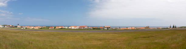 or  Santa Cruz das Flores Airport, Azores, Portugal stock photo